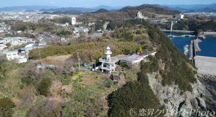 和歌山県雑賀崎灯台・空撮