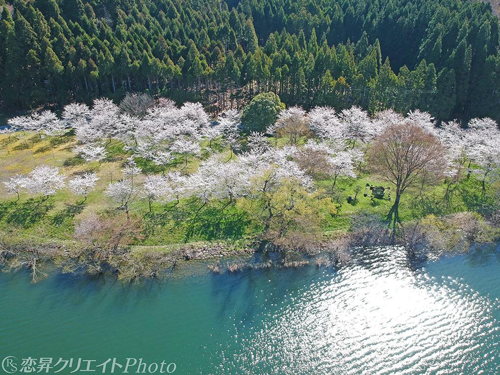 滋賀県余呉湖/空撮(DJISpark)